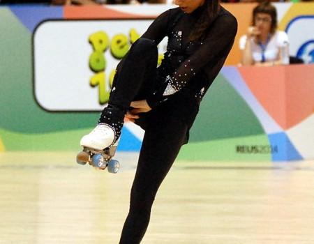 Aida Vieites confirmó su quinta plaza en el programa largo del Mundial Reus 2014