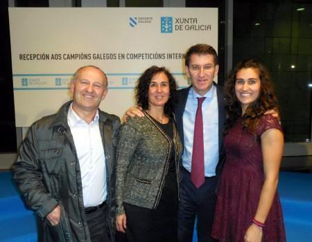 Andrea Ferreiro, en la recepción de la Xunta de Galicia