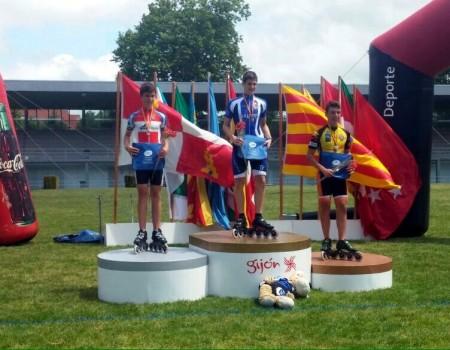 Marcos Vicos del Sada Patín, medalla de plata en el Campeonato de España en 1000 m Sprint