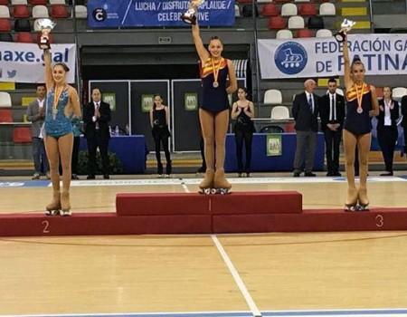 Tres medallas, balance para los gallegos en el XXIV Campeonato de España Cadete de Patinaje Artístico
