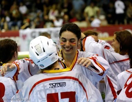 Laura Cernadas González, del CHL Meigas, campeona del Mundo Junior de Hockey Línea