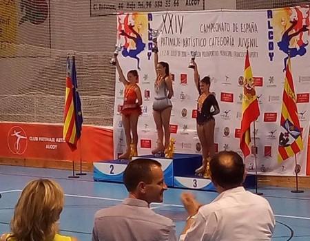 Nadia Iglesias de Salvador, campeona de España Juvenil de Patinaje Artístico