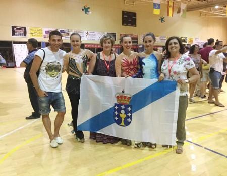 Buena actuación de las gallegas en el Campeonato de España Junior de Patinaje Artístico