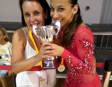 Aida Vieites Pier, medalla de plata en el Campeonato de España Senior de Patinaje Artístico