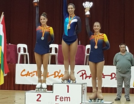 Nadia Iglesias de Salvador (CPA Maxia), campeona de España Junior de Patinaje Artístico