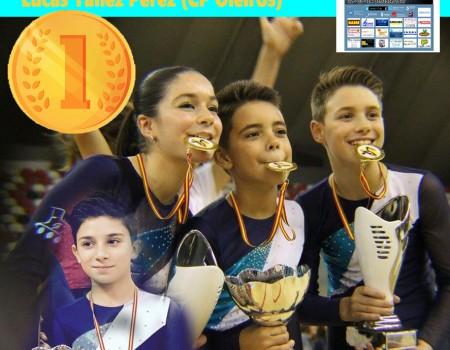 Tres medallas de oro y una de plata, exitoso balance del LVXII Campeonato de España de Patinaje Artístico Alevín e Infantil para los gallegos