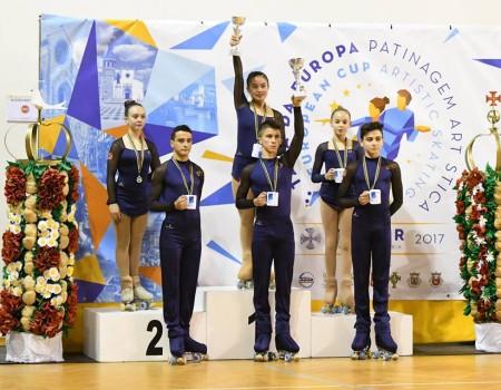 Primeras medallas para los/as gallegos/as en la Copa de Europa de Patinaje Artístico