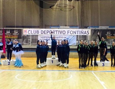 CPA Ribex e CPA Gondomar, campións galegos de Grupos Show Grandes e Pequenos de Patinaxe Artística