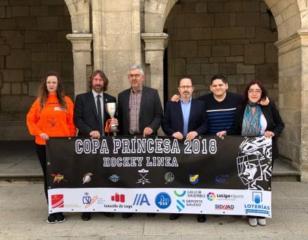 Presentada en el Concello de Lugo la Copa Princesa Femenina de Hockey Línea, que se disputará este fin de semana