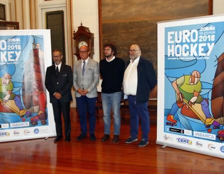 Presentado en el Ayuntamiento de A Coruña el 53 Campeonato de Europa Masculino de Hockey Patines