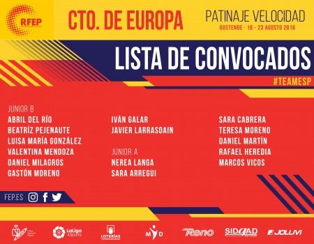Marcos Vicos Deus del Sada Patín, seleccionado para acudir al Campeonato de Europa de Patinaje de Velocidad