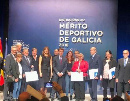Teresa Martínez Cancelo e José García Cabreros reciben a distinción ao mérito deportivo da Xunta de Galicia