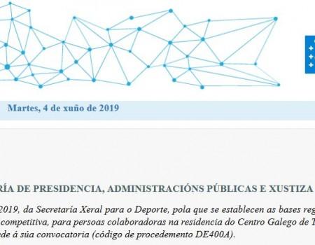 Resolucións da secretaría xeral para o Deporte da Xunta de Galicia de interese para os deportistas