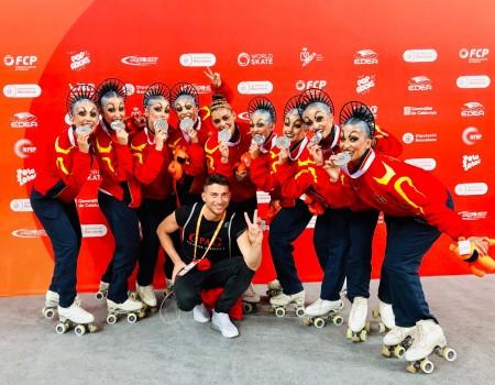 El C. P. A. Gondomar consigue la medalla de plata en Grupos Show Pequeños en los World Roller Games 2019
