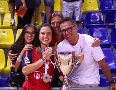 La jugadora gallega María Sanjurjo, campeona del mundo de Hockey sobre Patines