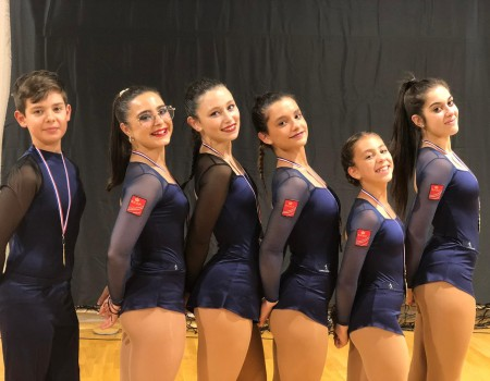 Destacada actuación de los gallegos en el Open Internacional de Danza de Patinaje Artístico