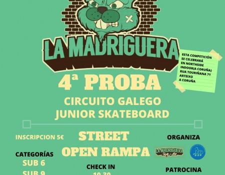 4ª proba do circuito galego junior de skateboard este domingo 15 de decembro