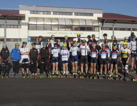 O bicampeón mundial Patxi Peula, impartiu un Clinic de Tecnificación de Patinaxe de Velocidade en Sada