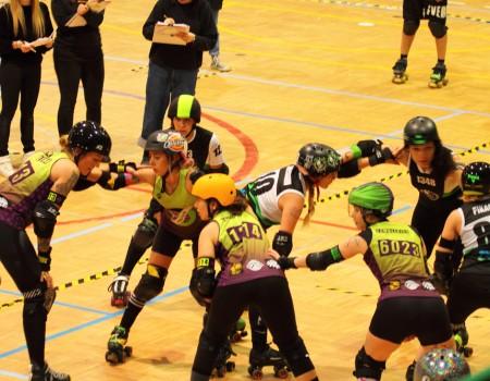 Coruña Roller Derby Irmandiñas lidera a táboa trala disputa da primeira xornada da liga galega de Roller Derby